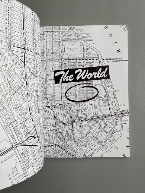 The World. 254 E. 2nd Street. N.Y. City