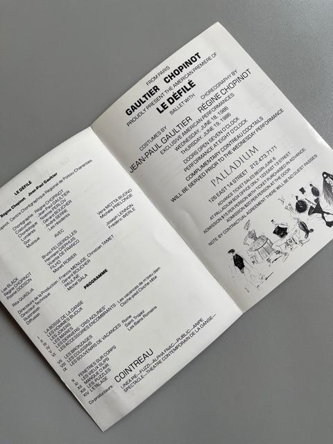 Jean Paul Gaultier (Palladium New York, 1987)