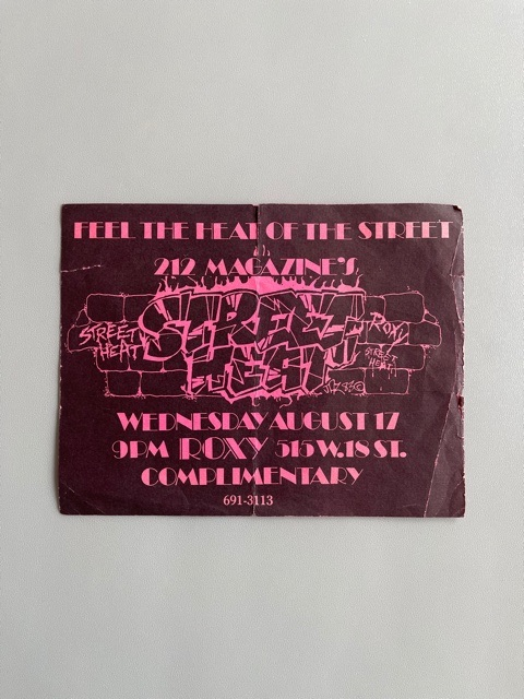 Roxy Club (New York / 1983)